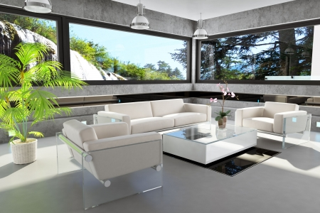 Interior Design (the house near the waterfall) Stock Photo - 6112029