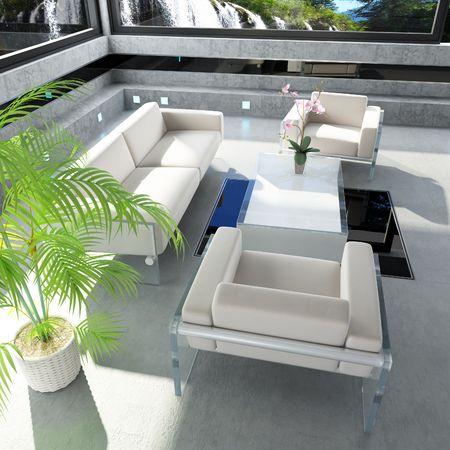 Wohnzimmertisch Interior Design Das Haus In Der Nhe Wasserfall