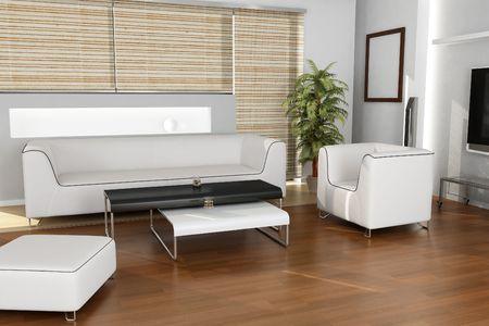 3dmax: Interior Design (living room)