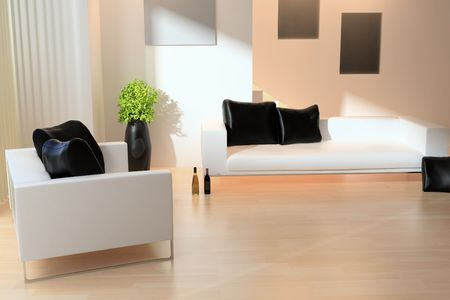 modern drawing room Stock Photo - 6694170