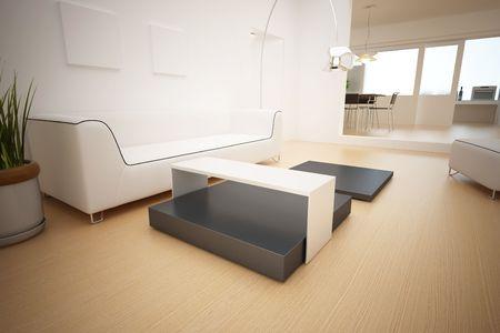 modern interior,3D rendering  photo