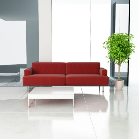 modern drawing room,3d rendering Stock Photo - 7047954