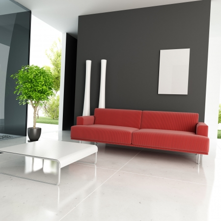 modern drawing room,3d rendering