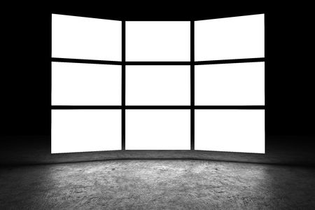 wide screen: Several light box with blank space
