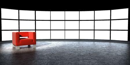 Verschillende licht doos met lege ruimte  Stockfoto