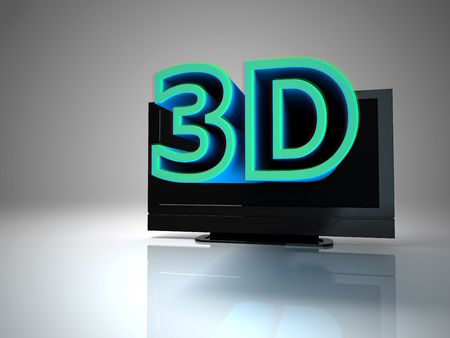3D TV concept image. Stock Photo - 7472175
