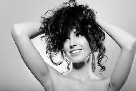Portrait of a beautiful young woman. Makeup & Fashion Stock Photo - 10516703