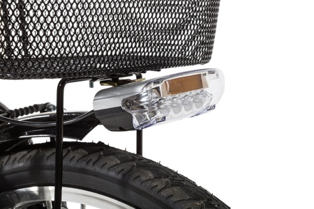 reflector: bike detail on white background, isolated