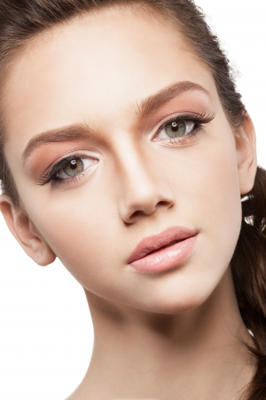 Beautiful elegance girl with beauty shiny makeup photo