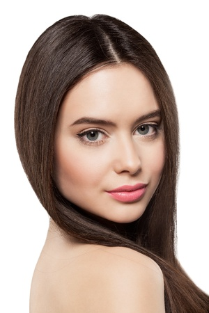 Beauty face of woman with clean fresh skin photo