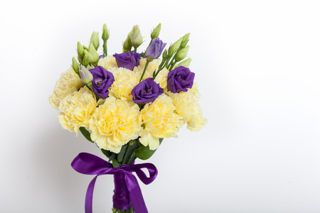 clove of clove: Close up of a flower bouquet on a white background