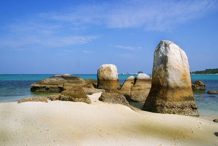 Batu Berlayar Island with natural rock formation, Belitung Island, Indonesia