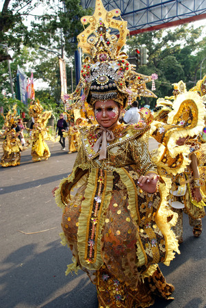 childern traditional art street festival ini solo, indonesia