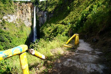 Sipiso-piso waterfall at Tongging Vilage, Northern Sumatra, Indonesia