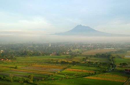 Merapi Mountain, Yogyakarta, Indonesia Banco de Imagens