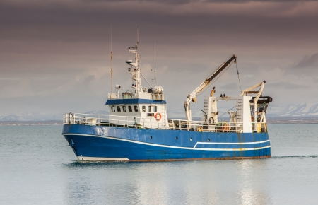 commercial fishing: Icelandic offshore commercial fishing trawler