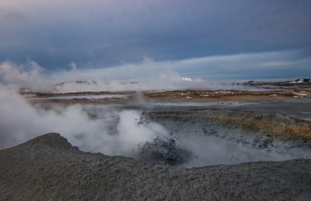 Photo from a geothermal area at Reykjanes peninsula in Iceland