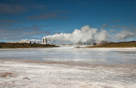 scandinavian peninsula: Photo from a geothermal area at Reykjanes peninsula in Iceland