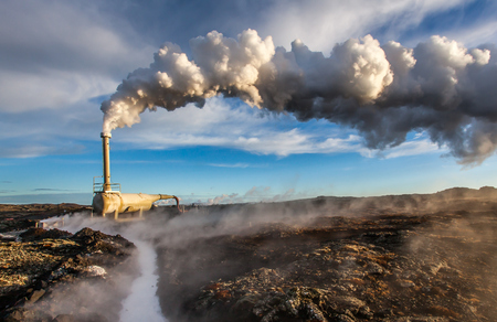 Geothermal borehole located at Reykjanes peninsula, Iceland