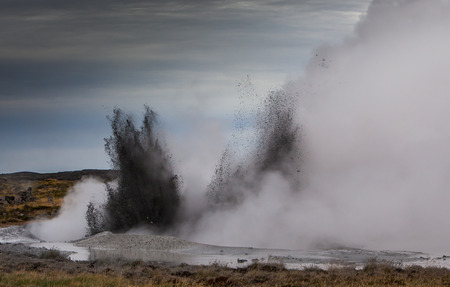Geothermal activity in Iceland photo