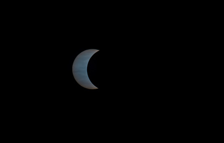 partial: Partial solar eclipse 20th March 2015 seen from Iceland.