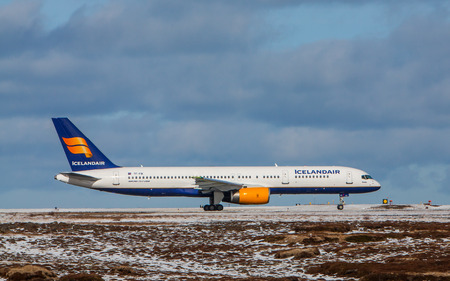 Keflavik, Iceland - March 30, 2015 - Boeing 757 200 from Icelandair at KEF airport, Iceland