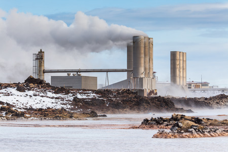 Geothermal power plant located at Reykjanes peninsula on the south west coast of Iceland. Editorial