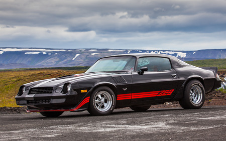 Iceland - July 11, 2015 : 1978 Chevrolet Camaro Z28 at drag racing event in Iceland. Editorial