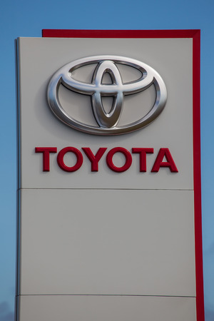 Logo for the Japanese automobile manufacturer Toyota.