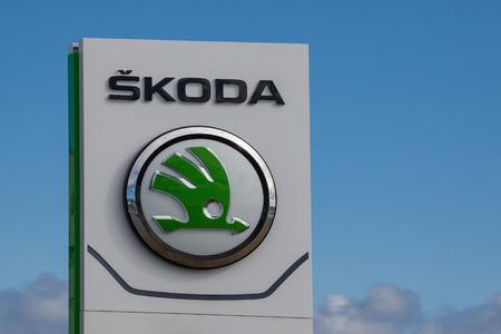Logo for Skoda automobile corporation.