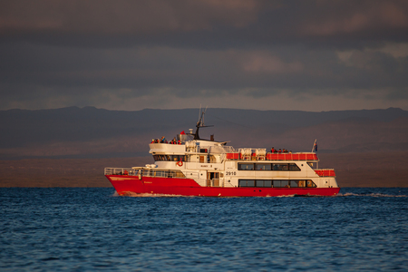Iceland - August 12, 2017 : Whale watching boat 2910 Eldey RE from Reykjavik looking out for whales in Icelandic waters. Editorial