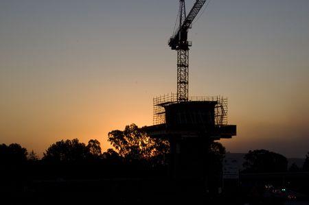 gauteng: Gautrain Construction Crane Stock Photo