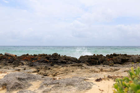 some waves at beach in south america