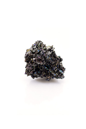 mineral stone: Black grenades. Mineral. Stone. On a white background. Isolated