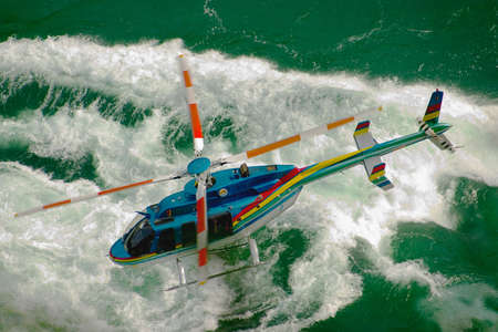 helicopter pilot: Helicopter over whitewater on the Niagara River