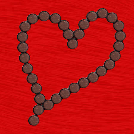 arrangment: Chocolate cup heart arrangment for anyone special