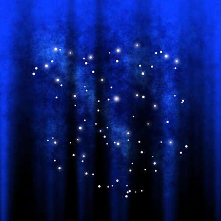 별이 가득한 추상 컴퓨터 생성 은하계