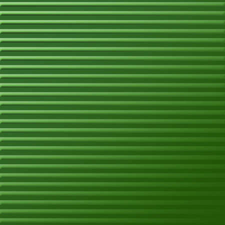 green lines: Abstract striped Green background 3d stripes illustration. Stock Photo