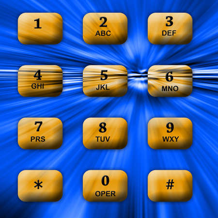 Communication telephone buttons.  Hi-tech background conveying speed