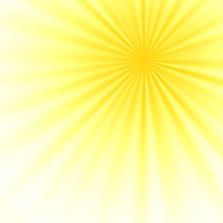 Illustration light beams shining down on a yellow background