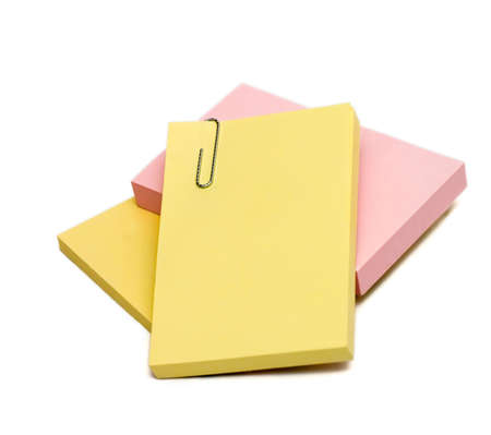 Isolated stack of post it notes for any to do list Stock Photo