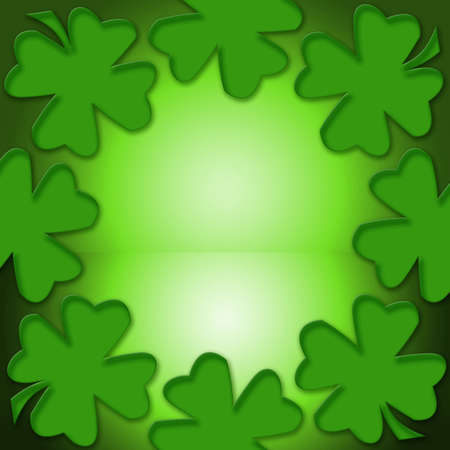 Four leaf lucky clover for inspiration and a bright future Stock Photo - 1364928
