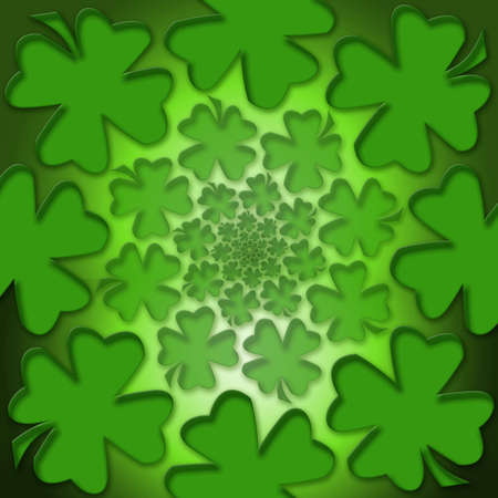 Four leaf lucky clover for inspiration and a bright future