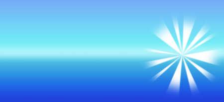 sleek: Sleek Blue starburst banner illustration for header Stock Photo