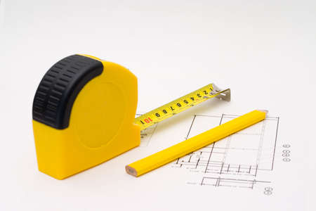 Measuring tape for any unfinished project Stock Photo - 1364880