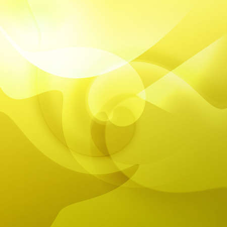Yellow shapes and swirls with curves and swirls