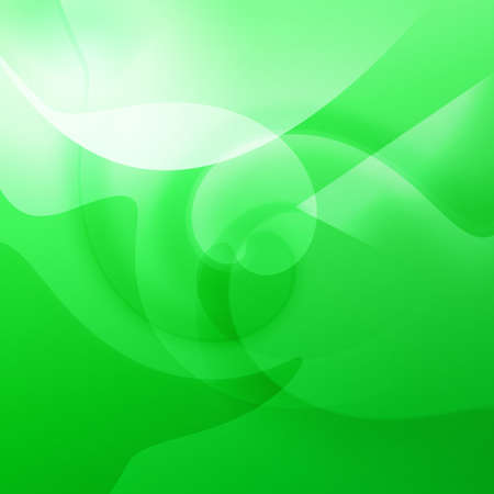 Green shapes and swirls with curves and swirls