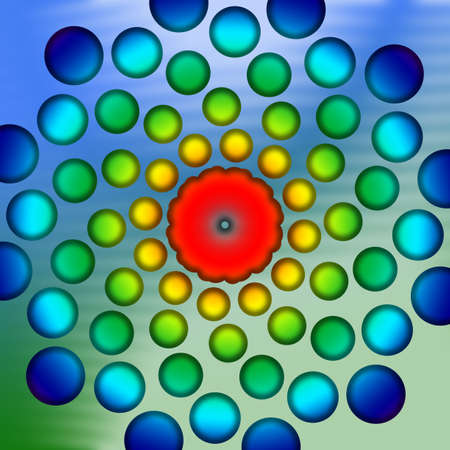 abstract colorful blue and green flower back drop photo