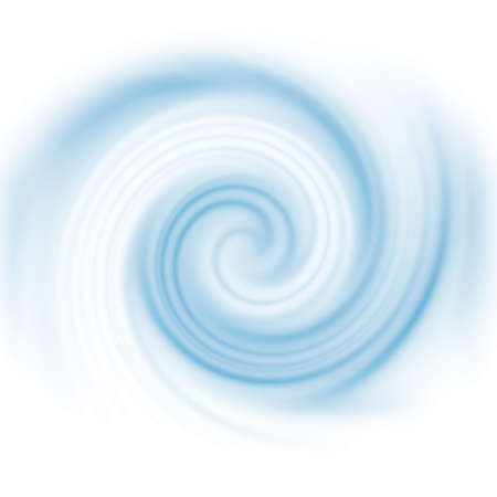 Blue spinning computer generated vortex for an abstract background