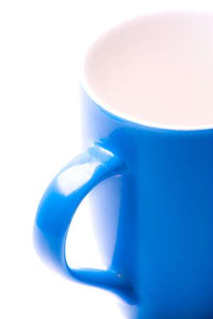 Close-up of coffee Mug on white photo